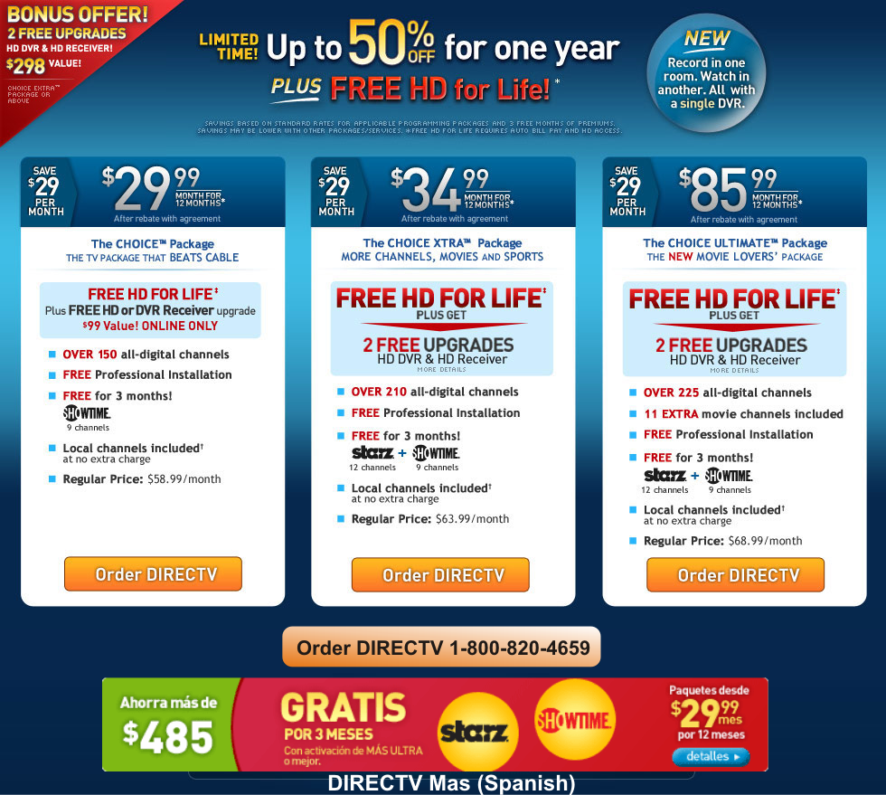 Directv coupons existing customers